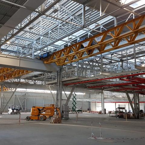KUHN MGM – Extension de l'unité de réception – montage – expédition. Etudes AVP-PRO-EXE. Environ 2400T de charpente.